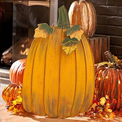 Metal Pumpkin Easel, 30 in.