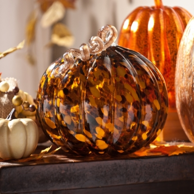 Tortoise Glass Pumpkin Statue