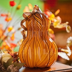 Amber Glass Gourd Statue