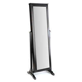 Black Cheval Armoire Mirror