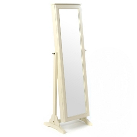 Antique White Cheval Armoire Mirror