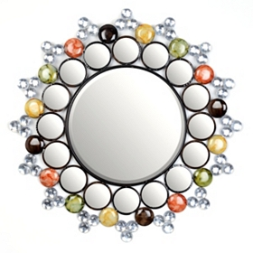 Jeweled Starburst Wall Mirror, 29 in.