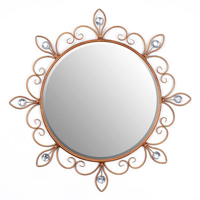 Golden Scroll Wall Mirror, 29 in.