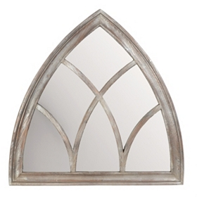 Bishop Wood Wall Mirror, 40x40