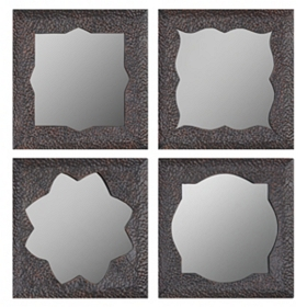 Jigsaw Wall Mirror, Set of 4