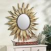 Sunburst Flower Wall Mirror, 38 in.