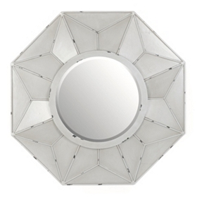Burlington Gray Wall Mirror, 32x32