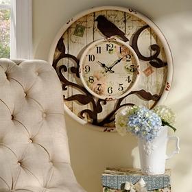 Springtime Wooden Clock