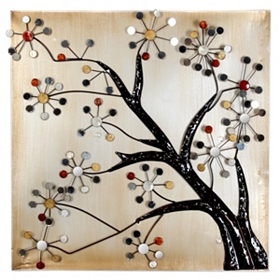 Blooming Tree Wall Plaque