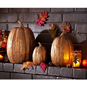 Metallic Pumpkins, Set of 3