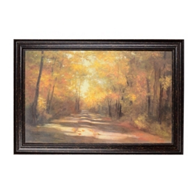 Autumn Road Framed Art Print