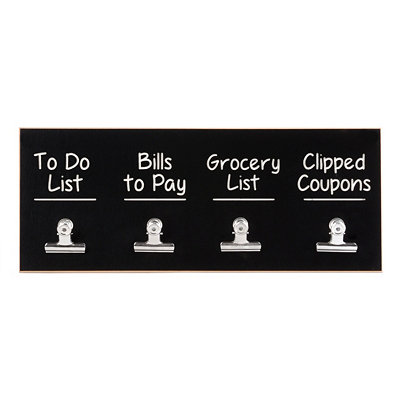 To-Do Wall Plaque with Clips