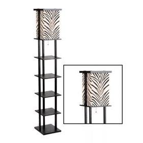 Zebra Shelf Floor Lamp