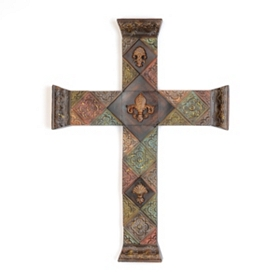 Embossed Tile Cross Plaque