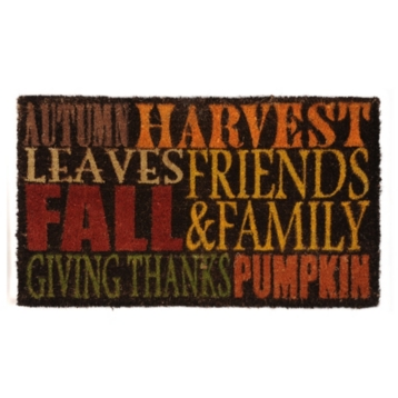 Autumn Harvest Typography Doormat at Kirkland's