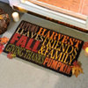 Autumn Harvest Typography Doormat