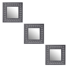 Greek Key Black Mirror, Set of 3