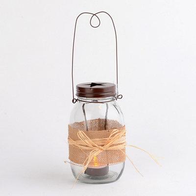 Clear Mason Jar Candle Holder