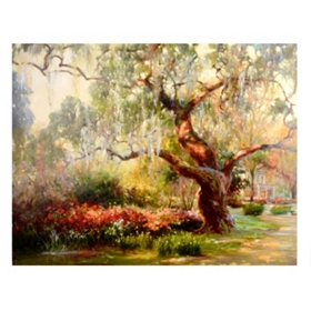 Pathway To The Garden Canvas Art Print