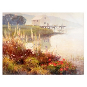 The Boathouse Canvas Art Print