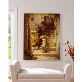 Terrace Canvas Art Print