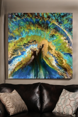 Peacock Abstract Canvas Art Print
