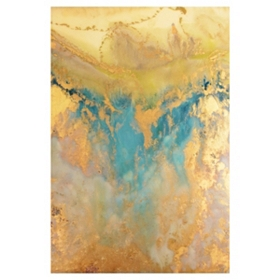 Blue & Gold Abstract Canvas Art Print