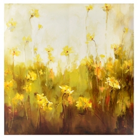 Yellow Floral Canvas Art Print