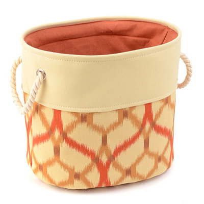 Medallion Spice Storage Bin with Rope Handles