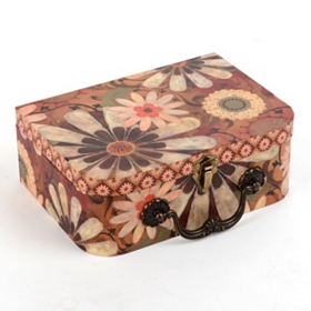 Vintage Floral Storage Box, Small