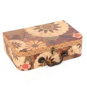 Vintage Floral Storage Box, Medium