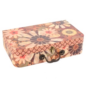 Vintage Floral Storage Box, Large