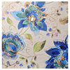Blue Paisley Floral Canvas Art Print