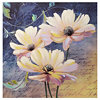White Floral Script Canvas Art Print