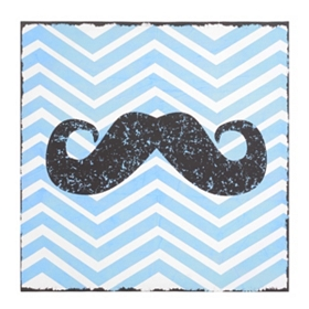 Chevron Mustache Canvas Art Print