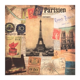 Paris Scrapbook Canvas Art Print