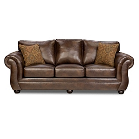 Gracia Chocolate Bonded Leather Sofa