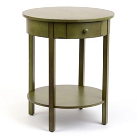 Selina Olive Green Accent Table