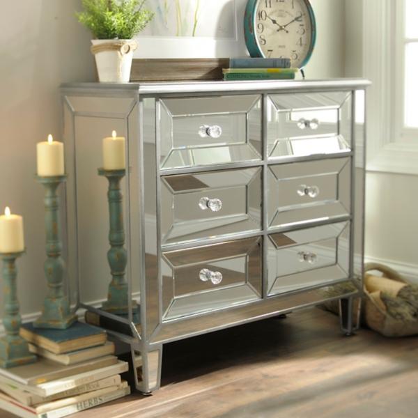 . Silver Mirrored Chest   Kirklands