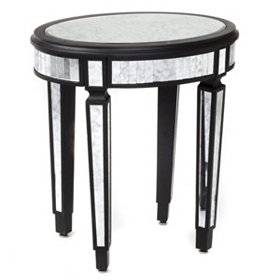 Antique Mirrored Accent Table