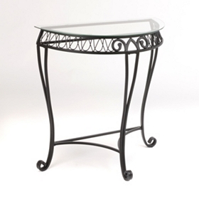 Demilune Loop Console Table
