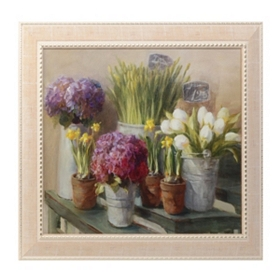 Les Fleurs Printemps Framed Art Print