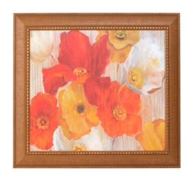 Ella's Golden Blooms Framed Art Print