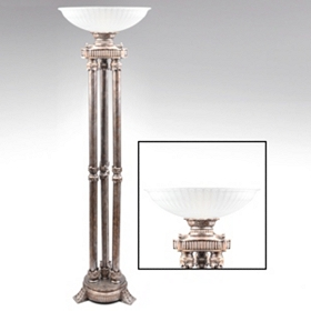 Wakefield Antique Silver Torchiere