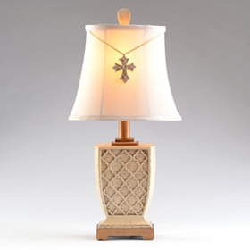 Old Cross Ivory Table Lamp