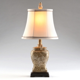 Champagne Floral Table Lamp