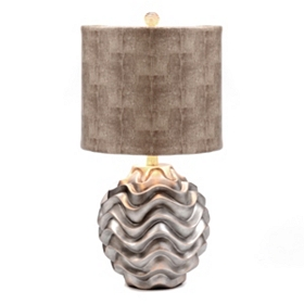 Silver Wave Table Lamp