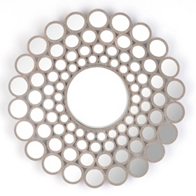 Concave Circles Wall Mirror, 31 in.
