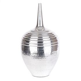 Textured Aluminum Floor Vase