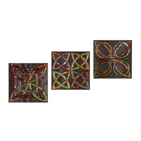 Abstract Knots Wall Plaque, Set of 3